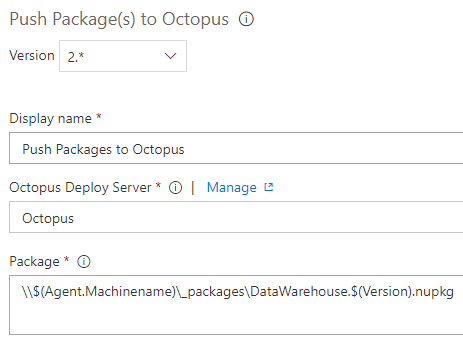 push NuGet Package To Octopus